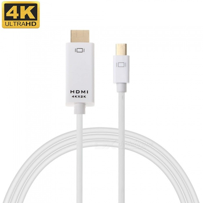 cwxuan mini displayport DP na HDMI 4K * 2K adaptér HD kabel - bílý (1.8m)