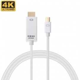 Cwxuan Mini DisplayPort DP to HDMI 4K*2K HD Adapter Cable - White (1.8m)