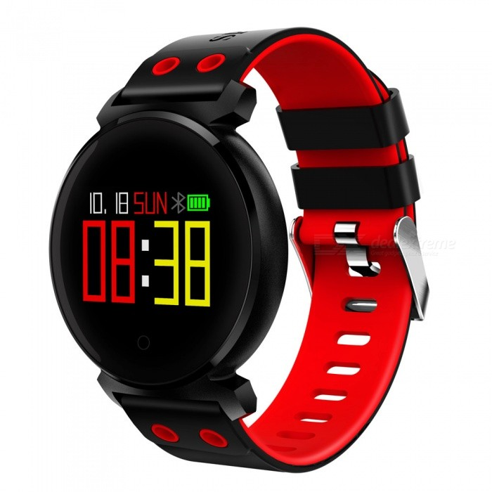 JSBP K2 Color Screen Smart Bracelet Wristband with IP68 Waterproof, Blood Pressure, Blood Oxygen, Heart Rate Monitor - RedSmart Bracelets<br>Form  ColorRedModelK2Quantity1 DX.PCM.Model.AttributeModel.UnitMaterialSilicone+KirsiteShade Of ColorRedWater-proofIP68Bluetooth VersionBluetooth V4.0Touch Screen TypeCapacitive ScreenCompatible OSAndroid&amp;IOSBattery Capacity200 DX.PCM.Model.AttributeModel.UnitBattery TypeLi-polymer batteryStandby Time30 DX.PCM.Model.AttributeModel.UnitOther Featureswork days:15days;<br>Memory:64K(Flash 512K);<br>Chip:NRF52832;<br>Notification:Synchronous data to APK/APPPacking List1 x K2 Smart Bracelet1 x USB Charging Cable1 x English User Manual<br>