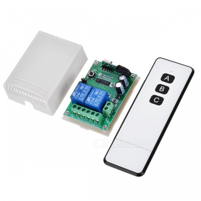 KJ-105-315MHZ 12V Mini Two-Way Wireless Remote Controller Switch for Motor, Electric Door, Lamp and Windows ControlTransmitters &amp; Receivers Module<br>Form  ColorBlack + WhiteModelKJ-105-315MHZQuantity1 DX.PCM.Model.AttributeModel.UnitMaterialABS + PCSFrequency315MHZWorking Voltage   12 DX.PCM.Model.AttributeModel.UnitWorking Current10 DX.PCM.Model.AttributeModel.UnitEffective Range100-500mEnglish Manual / SpecNoDownload Link   http://a4.qpic.cn/psb?/V110RK7y4adZoz/h8Yy.nBR2sNjzKGYAsJPzWRc40oLylL*1XGxox2G2m4!/m/dPMAAAAAAAAAnull&amp;bo=WwKyAgAAAAARB9k!&amp;rf=photolist&amp;t=5Packing List1 x Remote control1 x Controller module<br>