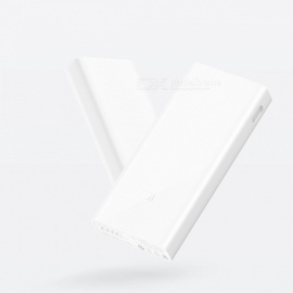 Xiaomi Mi 2C Portable 20000mAh External Power Bank with Dual USB Support Two-way Fast Charging QC 3.0 - White