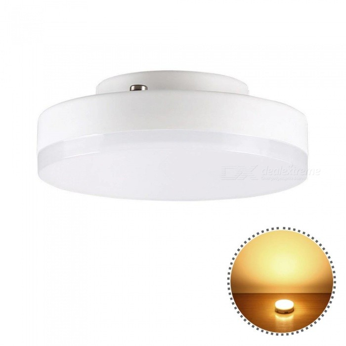 YWXLight GX53 5W Mini Round Super Bright LED Ceiling Lamp - Warm WhiteOther Connector Bulbs<br>Color BINWarm WhiteMaterialGlass+PCForm  ColorWhiteQuantity1 piecePower5WRated VoltageAC 220-240 VConnector TypeOthers,GX53Emitter TypeOthers,2835SMDTotal Emitters16Theoretical Lumens500-600 lumensActual Lumens400-500 lumensColor Temperature3000KDimmableNoBeam Angle180 °Packing List1 x YWXLight LED light<br>