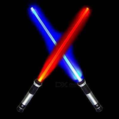 YWXLight Mini Portable 2Pcs RGB Double Sided LED Light Up Light Lightsaber