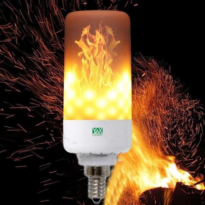 YWXLight E12 LED 5W Emulation Flame Lights LED Corn Bulb, AC 85-265 VOther Connector Bulbs<br>Color BINE26MaterialPCForm  ColorWhite + Reed Green + Multi-ColoredQuantity1 DX.PCM.Model.AttributeModel.UnitPower5WRated VoltageAC 85-265 DX.PCM.Model.AttributeModel.UnitConnector TypeOthers,E12Emitter Type3528 SMD LEDTotal Emitters99Theoretical Lumens500-600 DX.PCM.Model.AttributeModel.UnitActual Lumens400-500 DX.PCM.Model.AttributeModel.UnitColor Temperature12000K,Others,1900-2200KDimmableNoBeam Angle360 DX.PCM.Model.AttributeModel.UnitPacking List1 x YWXLight LED Flame light<br>