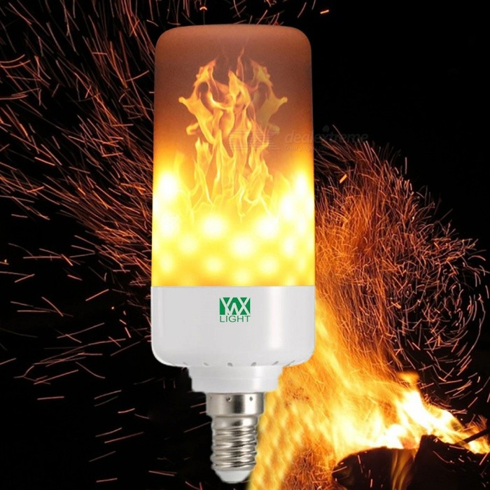 YWXLight E14 LED 5W Emulation Flame Light LED Corn Bulb, AC 85-265 VOther Connector Bulbs<br>Color BINE14MaterialPCForm  ColorWhiteQuantity1 DX.PCM.Model.AttributeModel.UnitPower5WRated VoltageAC 85-265 DX.PCM.Model.AttributeModel.UnitConnector TypeE14Emitter Type3528 SMD LEDTotal Emitters99Theoretical Lumens500-600 DX.PCM.Model.AttributeModel.UnitActual Lumens400-500 DX.PCM.Model.AttributeModel.UnitColor Temperature12000K,Others,1900-2200KDimmableNoBeam Angle360 DX.PCM.Model.AttributeModel.UnitPacking List1 x YWXLight LED Flame Light<br>
