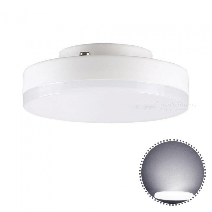 YWXLight GX53 7W Mini Round Super Bright LED Ceiling Lamp - Cold WhiteOther Connector Bulbs<br>Color BINCold WhiteMaterialGlass+PCForm  ColorWhiteQuantity1 piecePower7WRated VoltageAC 220-240 VConnector TypeOthers,GX53Emitter TypeOthers,2835SMDTotal Emitters24Theoretical Lumens700-800 lumensActual Lumens600-700 lumensColor Temperature6500KDimmableNoBeam Angle180 °Packing List1 x YWXLight LED Light<br>