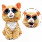 Mischievous Adorable Cute Angry Face Changing Plush Doll Toy Gift for Children - Yellow + Orange