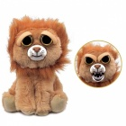 Mischievous Adorable Cute Angry Face Changing Plush Doll Toy Gift for Children - Lion Style