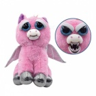 Mischievous Adorable Cute Angry Face Changing Plush Doll Toy Gift for Children - Pink