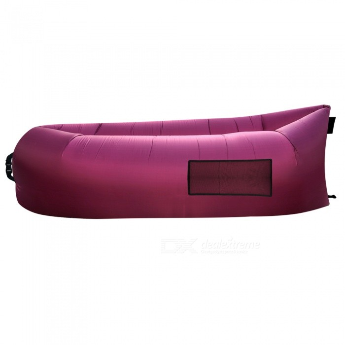 Waterproof Lazy Air Sofa Bed Lounger Inflatable Camping Bag Sleeping Bag - PurpleSleeping Bags<br>Form  ColorPurpleModelAS-001Quantity1 DX.PCM.Model.AttributeModel.UnitBest UseFamily &amp; car camping,Camping,Mountaineering,TravelSeasonsSpring and SummerMaterialPolyesterSleeping Bag ShapeOthers,Pancake StyleTemperature Rating 15 DX.PCM.Model.AttributeModel.UnitFillAirCertificationREACHPacking List1 x Purple Sleeping Bag<br>
