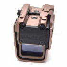OUMILY Red and Green Dot Sight Airsoft Reflex Sight Supports 20mm Rail Mount Can Be Quick Release - Golden