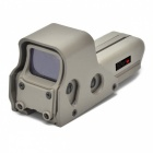 OUMILY Red and Green Dot Sight Airsoft Reflex Sight Supports 20mm Rail Mount - Khaki