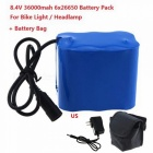 Zhaoyao high capacity 8.4v 6 x 26650 rechargeable battery pack with us battery charger, magic bag for led bike light headlamp