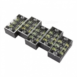 YENISEI TB2506 6-Position Dual Rows 600V 25A Wire Barrier Block Terminal Strip (5 PCS)