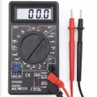 Ojade mini handheld pocket digital multimeter, thermometer ammeter voltmeter ohmmeter for electrical measuring