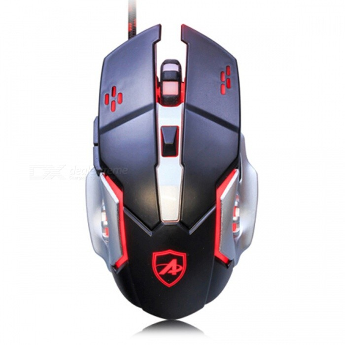Ajazz AJ110 Professional Portable USB Wired Gaming Mouse with Backlit for Notebook Desktop ComputerGaming Mouse<br>Form  ColorDark red + BlackModelAJ110Quantity1 DX.PCM.Model.AttributeModel.UnitMaterialPlastic cementShade Of ColorRedInterfaceUSB 3.0,USB 2.0Wireless or WiredWiredOptical TypeLEDBluetooth VersionNoPowered ByUSBBattery included or notNoSupports SystemWin xp,Win 2000,Win 2008,Win vista,Win7 32,Win7 64,Win8 32,Win8 64,MAC OS XCable Length160 DX.PCM.Model.AttributeModel.UnitTypeGamingPacking List1 x Mouse1 x Instruction<br>