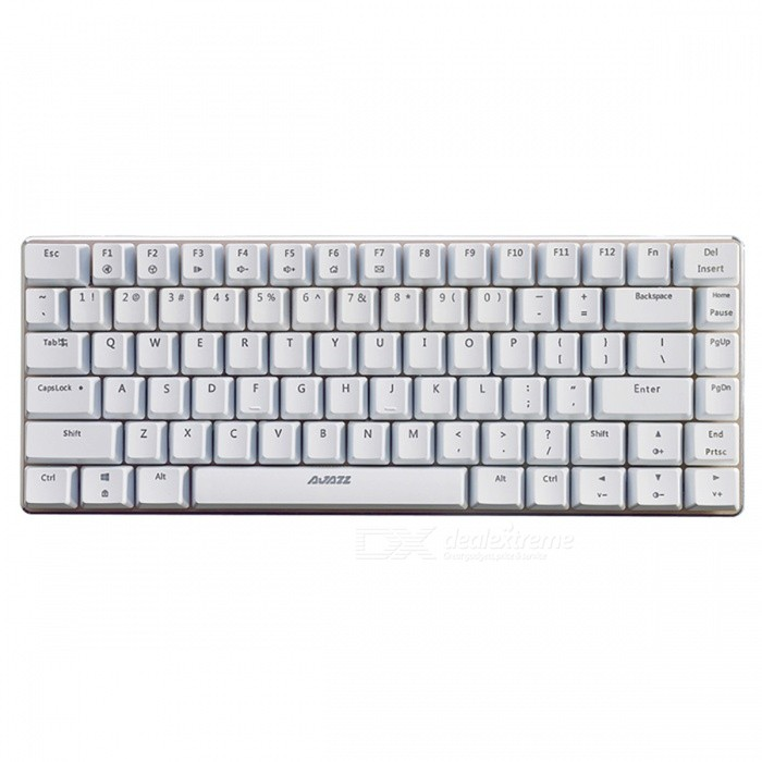 AJAZZ AK33 Portable Black Axis 82-Key Mechanical USB Wired Gaming Keyboard with No BacklightGaming Keyboards<br>Form  ColorWhiteModelAK33 No LightMaterialPlastic cementQuantity1 DX.PCM.Model.AttributeModel.UnitInterfaceUSB 3.0,USB 2.0Wireless or WiredWiredBluetooth VersionNoCompatible BrandAPPLE,Dell,HP,Toshiba,Acer,Lenovo,Samsung,MSI,Sony,IBM,Asus,Thinkpad,Huawei,GoogleAxis82Tracking MethodTouch PadBack-litNoAnti-ghosting KeyAllPowered ByUSBBattery included or notNoCharging Time0 DX.PCM.Model.AttributeModel.UnitWaterproofYesTypeGaming,ErgonomicSupports SystemWin xp,Win 2000,Win 2008,Win vista,Win7 32,Win7 64,Win8 32,Win8 64,MAC OS XOther FeaturesBlake AxisForm  ColorWhitePacking List1 x Keyboard 1 x Instruction<br>