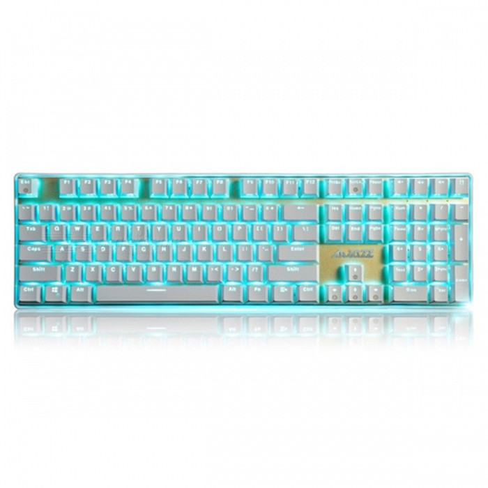 AJAZZ Ak33I Backlit Mechanical Keyboard with 108 Buttons Gaming Keyboard - Black SwitchGaming Keyboards<br>Form  ColorWhiteModelAK33i Black SwtichMaterialPlasticQuantity1 DX.PCM.Model.AttributeModel.UnitInterfaceUSB 3.0,USB 2.0Wireless or WiredWiredBluetooth VersionNoCompatible BrandAPPLE,Dell,HP,Toshiba,Acer,Lenovo,Samsung,MSI,Sony,IBM,Asus,Thinkpad,Huawei,GoogleAxis108Tracking MethodTouch PadBack-litYesPowered ByUSBBattery included or notNoCharging Time0 DX.PCM.Model.AttributeModel.UnitWaterproofNoTypeGaming,ErgonomicSupports SystemWin xp,Win 2000,Win 2008,Win vista,Win7 32,Win7 64,Win8 32,Win8 64,MAC OS XOther Featuresblack axisForm  ColorWhitePacking List1 x Keyboard1 x Instruction<br>