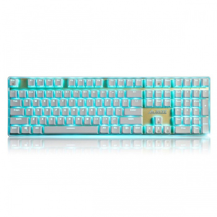 AJAZZ Ak33I Backlit Mechanical Keyboard with 108 Buttons Gaming Keyboard - MX Blue SwitchGaming Keyboards<br>Form  ColorWhiteMaterialPlasticQuantity1 DX.PCM.Model.AttributeModel.UnitInterfaceUSB 3.0,USB 2.0Wireless or WiredWiredBluetooth VersionNoCompatible BrandAPPLE,Dell,HP,Toshiba,Acer,Lenovo,Samsung,MSI,Sony,IBM,Asus,Thinkpad,Huawei,GoogleAxis108Tracking MethodTouch PadBack-litYesAnti-ghosting KeyallPowered ByUSBBattery included or notNoCharging Time0 DX.PCM.Model.AttributeModel.UnitWaterproofNoTypeGaming,ErgonomicSupports SystemWin xp,Win 2000,Win 2008,Win vista,Win7 32,Win7 64,Win8 32,Win8 64,MAC OS XForm  ColorWhitePacking List1 x Keyboard1 x Instruction<br>