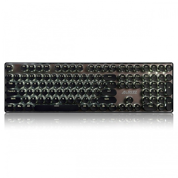 AJAZZ Portable Black Axis 108-Key Mechanical USB Wired Gaming Keyboard with Backlight, Round ButtonsGaming Keyboards<br>Form  ColorBlackModelPunk Buack AxisMaterialPlastic cementQuantity1 DX.PCM.Model.AttributeModel.UnitInterfaceUSB 3.0,USB 2.0Wireless or WiredWiredBluetooth VersionNoCompatible BrandAPPLE,Dell,HP,Toshiba,Acer,Lenovo,Samsung,MSI,Sony,IBM,Asus,Thinkpad,Huawei,GoogleAxis108Tracking MethodTouch PadBack-litYesAnti-ghosting KeyAllPowered ByUSBBattery included or notNoCharging Time0 DX.PCM.Model.AttributeModel.UnitWaterproofNoTypeGaming,ErgonomicSupports SystemWin xp,Win 2000,Win 2008,Win vista,Win7 32,Win7 64,Win8 32,Win8 64,MAC OS XPacking List1 x Keyboard1 x Instruction<br>