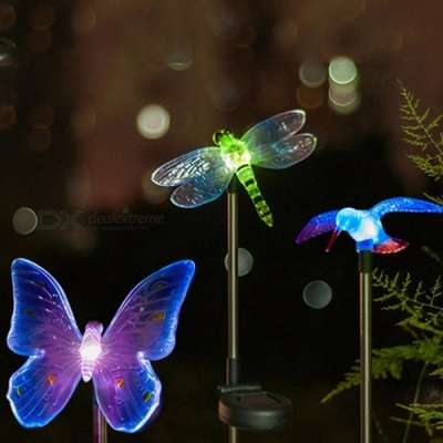 Solar Powered Color Changing LED Light Decorative Dragonfly Style Path Light Outdoor Garden Lawn Light Dragonfly