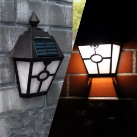 Solar Powered White Light LED Light Outdoor Lighting Garden Path Landscape Lamp Fence Yard Wall Light Lamp black