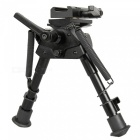 ACCU 6-9 Inch Tactical Pica-tinny Rail Bipod + Rota-Pod Rotating Quick Detachable Harris Bipod Adapter for Sniper