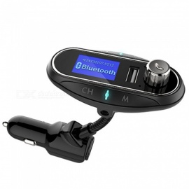 KELIMA T12 Car Bluetooth Handsfree Calls FM Transmitter MP3 Player - Black