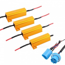MZ 9007 HB5 LED Headlight Bulb Anti-Flicker Decoder Resistor (4 PCS)