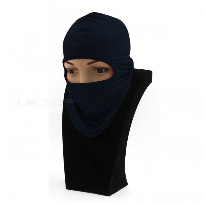 Windproof Balaclava Face Mask Motorcycle Cycling Bike Skiing Military Tactical Paintball Cover - Dark BlueMasks<br>Form  ColorDark BlueSizeFree SizeModelA/NQuantity1 DX.PCM.Model.AttributeModel.UnitMaterialElastic FabricGenderUnisexSuitable forAdultsPacking List1 x Motorcycle Face Mask<br>