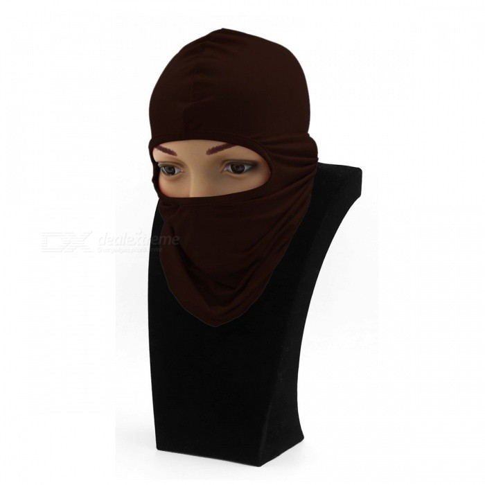 Windproof Balaclava Face Mask Motorcycle Cycling Bike Skiing Military Tactical Paintball Cover - BrownMasks<br>Form  ColorBrownSizeFree SizeQuantity1 DX.PCM.Model.AttributeModel.UnitMaterialElastic FabricGenderUnisexSuitable forAdultsPacking List1 x Motorcycle Face Mask<br>