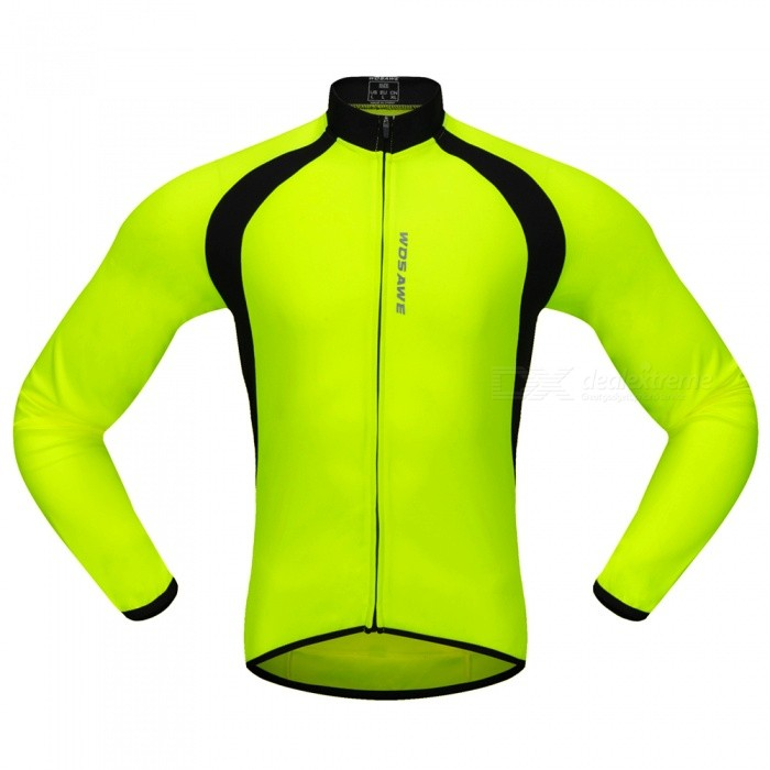 BC228 Sports Long-Sleeve Cycling Jersey - Fluorescent Green (L)Form  ColorFluorescent GreenSizeLModelBC228Quantity1 pieceMaterial100% POLYESTERGenderUnisexSeasonsSpring and SummerShoulder Width14.5 cmChest Girth106-110 cmSleeve Length56 cmWaist0 cmTotal Length0 cmSuitable for Height170-175 cmBest UseCycling,Mountain Cycling,Road CyclingSuitable forAdultsTypeLong JerseysPacking List1 x Long-Sleeve Cycling Jersey<br>