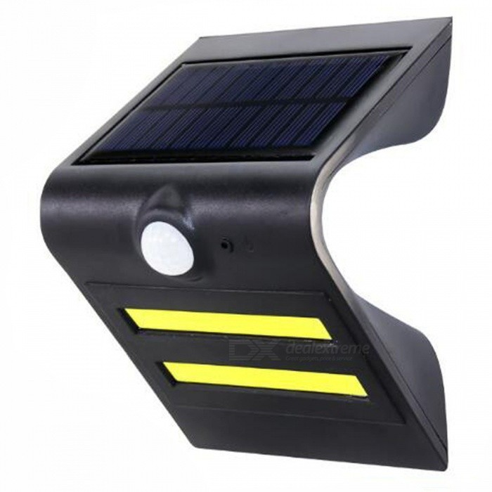 P-TOP 3.7V 150LM Solar Powered Waterproof PIR Motion Sensor Outdoor Wall Light for Garden Patio - BlackSolar Lamps<br>Form  ColorBlackMaterialABSQuantity1 DX.PCM.Model.AttributeModel.UnitEmitter TypeLEDPower1.5 DX.PCM.Model.AttributeModel.UnitWorking Voltage   3.7 DX.PCM.Model.AttributeModel.UnitBattery Capacity2200 DX.PCM.Model.AttributeModel.UnitLumens150 DX.PCM.Model.AttributeModel.UnitBattery Charging Time8Working Time5-8 DX.PCM.Model.AttributeModel.UnitPacking List1 x Light<br>