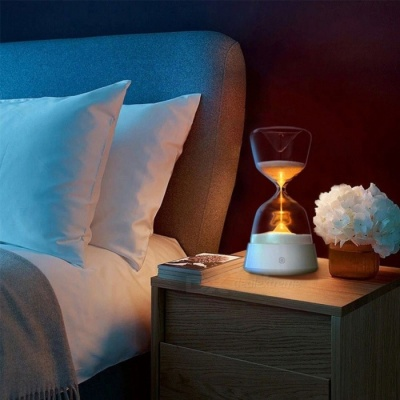 P-TOP 5V Romantic Colorful Hourglass Style Timer Night Light Bedside Sleeping Timer Desk Touchable Lamp