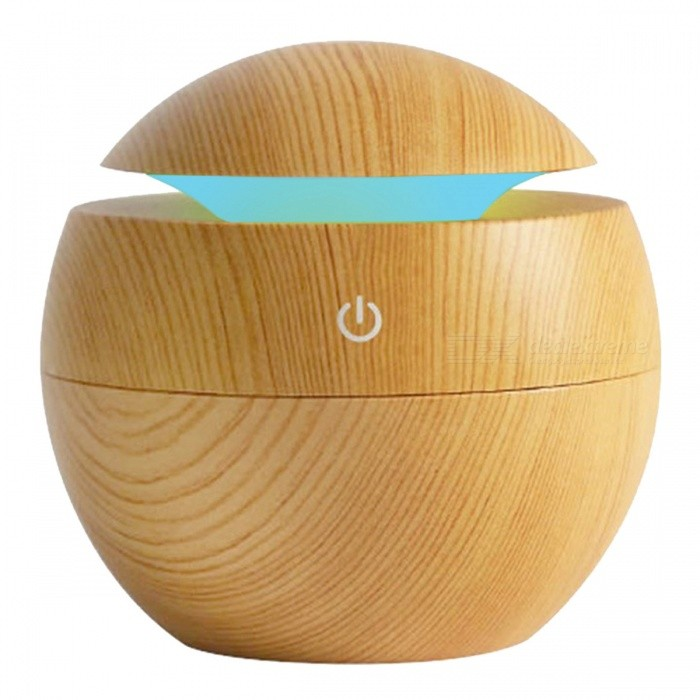 P-TOP USB  Air Aroma Essential Oil Diffuser, Ultrasonic Mist Humidifier w/ 7-Color Changing LED Night Light - Wood ColorLED Nightlights<br>Form  ColorBurlywoodMaterialABS + Electronic ComponentsQuantity1 DX.PCM.Model.AttributeModel.UnitPower2WRated VoltageOthers,5 DX.PCM.Model.AttributeModel.UnitColor BINRGBEmitter TypeLEDDimmableYesBeam Angle360 DX.PCM.Model.AttributeModel.UnitInstallation TypeOthers,-Packing List1 x Humidifier w/ Night Light<br>