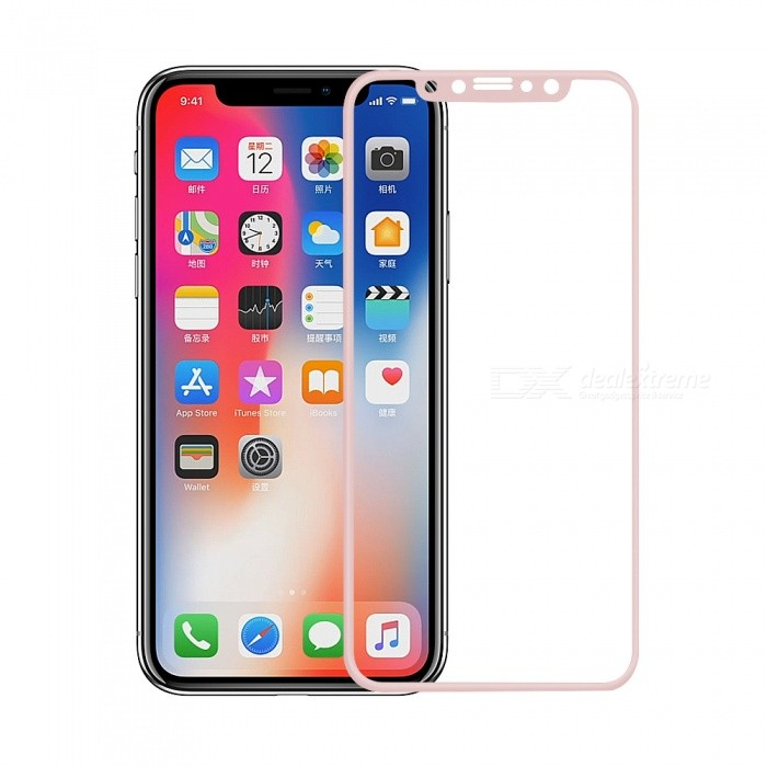 Mini Smile 0.2mm 9H Hardness 2.5D Full Coverage Tempered Glass Protector for IPHONE X - Rose GoldScreen Protectors<br>Screen TypeRose GoldModelIX-TGFQuantity1 DX.PCM.Model.AttributeModel.UnitMaterialTempered GlassForm  ColorBlackCompatible ModelsiPhone XStyleScreen protectorScreen FeaturesScratch Proof,Fingerprint Proof,Explosion ProofPacking List1 x Screen protector1 x Wipe1 x Dust sticker1 x Wet wipe<br>
