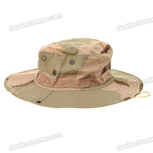 2-in-1 Wide Cowboy Hat Cap - Camouflage Khaki cowboy hat cap cap flat top hat lace rhinestone flower hooded fashion tide cap cap riding hood