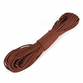CTSmart Super Tough 31 Meters 550 Pounds Tied Rope for Outdoor Camping Climbing, Seven Core Umbrella Rope - Brown