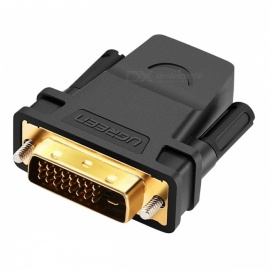 Ugreen 1080P HDMI to DVI 24+1 Adapter Female to Male HDTV Converter for PC Computer PS3 Projector TV Box Black