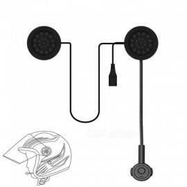 MH02 Motorcycle Helmet Bluetooth Stero Headset Earphone - Black