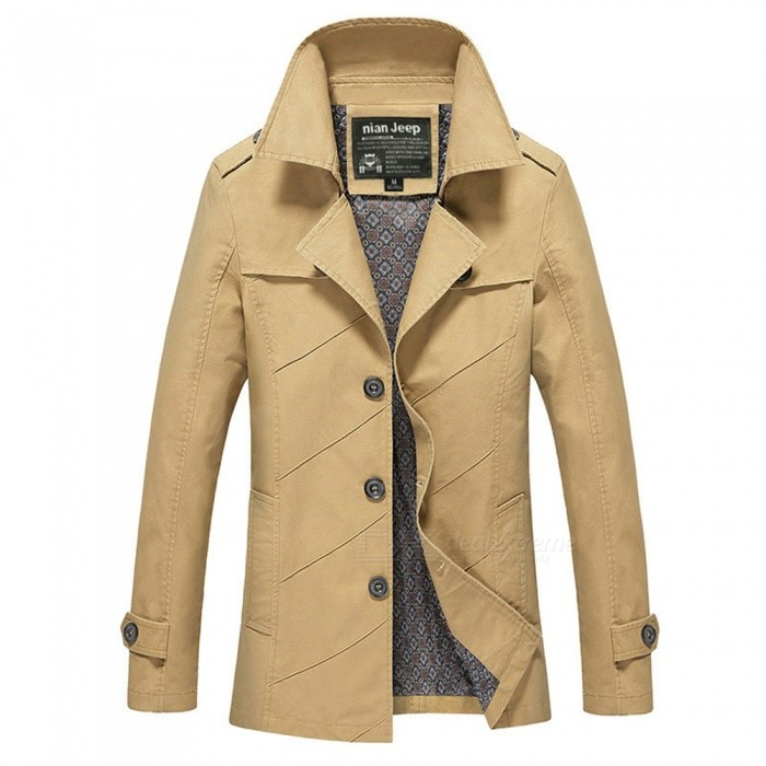 1111 Mens Slim Outdoor Casual Fashion Suit Jacket Coat - Yellowish Brown (2XL)Jackets and Coats<br>Form  ColorYellowish BrownSizeXXLModel1111Quantity1 DX.PCM.Model.AttributeModel.UnitShade Of ColorYellowMaterialCotton and polyesterStyleFashionTop FlyZipperShoulder Width48.8 DX.PCM.Model.AttributeModel.UnitChest Girth112 DX.PCM.Model.AttributeModel.UnitWaist Girth112 DX.PCM.Model.AttributeModel.UnitSleeve Length64.5 DX.PCM.Model.AttributeModel.UnitTotal Length77.5 DX.PCM.Model.AttributeModel.UnitSuitable for Height180 DX.PCM.Model.AttributeModel.UnitPacking List1 x Coat<br>