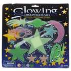 12-in-1 Glow-in-the-Dark Galaxy Stars and Planets Stickers - Color Assorted (6-Pack)