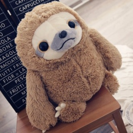 New Cute Lovely Sloth Plush Toy Doll, Movie & TV Stuffed Animal Sloth Doll for Children Birthday Gift 40cm brown