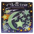 13-in-1 Glow-in-the-Dark Stars and Moon Stickers - Color Assorted (6-Pack)