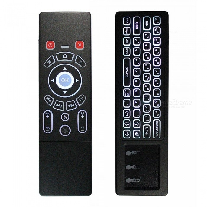 c13a635a748 BLCR Mini Wireless Keyboard + Air Remote Control / Mouse / Touchpad with  White Backlit, 2.4GHz Connection - Free Shipping - DealExtreme