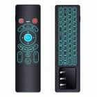 BLCR Mini Wireless Keyboard + Air Remote Control / Mouse / Touchpad with Colorful Backlit, 2.4GHz Connection