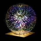 P-TOP 6W 220V Silver Plated Glass 3D LED Edison Bulb, Filament Bar Fireworks Ball Light for Home Holiday Decoration