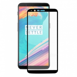 Hat-Prince Full Coverage Tempered Glass Film Protector for OnePlus 5T - Black