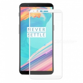 Hat-Prince Full Coverage Tempered Glass Film Protector for OnePlus 5T - White
