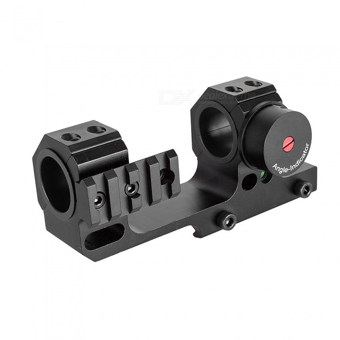 ACCU High Accuracy 24.5/30mm Universal Dual Ring One-piece Offset Scope Mount with Angel and Level InstrumentGun Mounts/Rails<br>Form  ColorBlackMaterialAircraft Aluminum AlloyQuantity1 DX.PCM.Model.AttributeModel.UnitGun TypeFor 20mm rail gunRail Size20mmMount TypeWeaver,Pica-tinnyRing Diameter30mm/25.4mmPacking List1 x Mount<br>